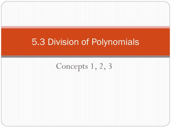 5 3 division of polynomials n.