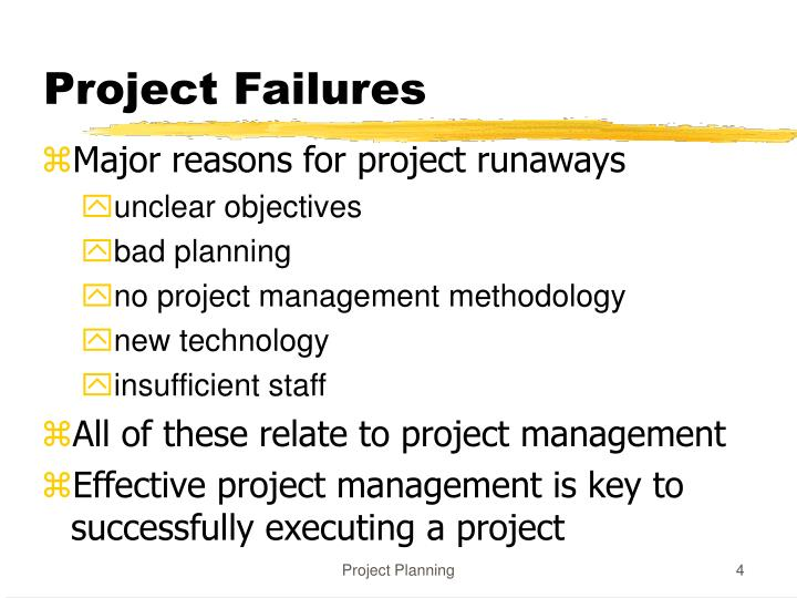 Project Failures