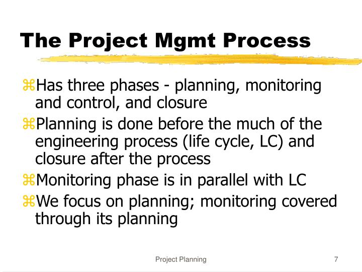 The Project Mgmt Process