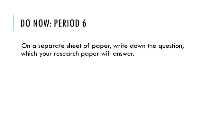 do now period 6 n.