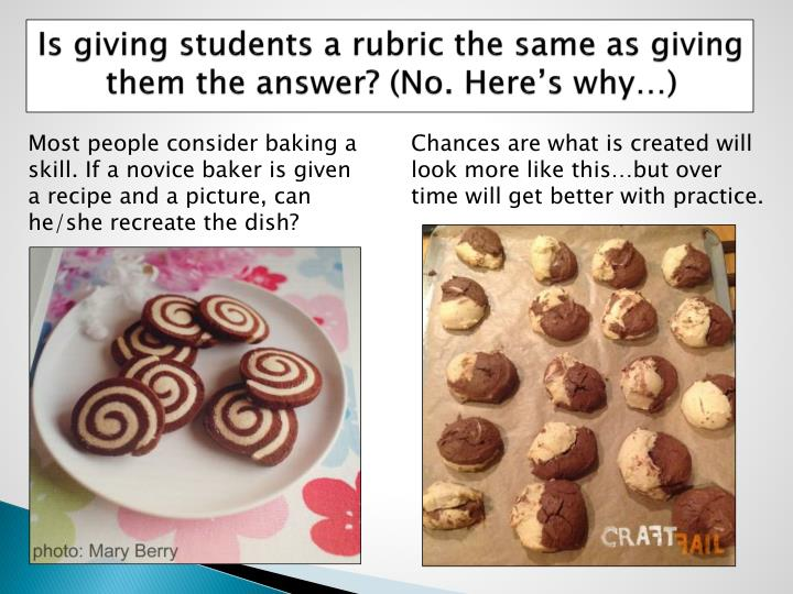 Is giving students a rubric the same as giving them the answer? (No. Here's why…)