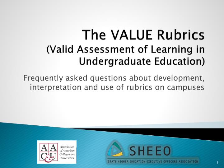 The value rubrics valid assessment of learning in undergraduate education