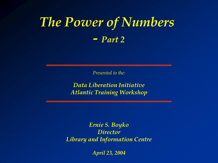 the power of numbers part 2 n.
