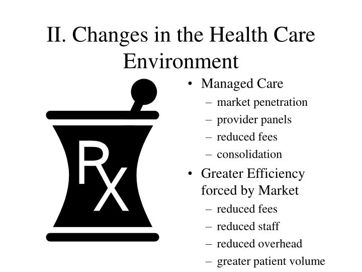Ii changes in the health care environment