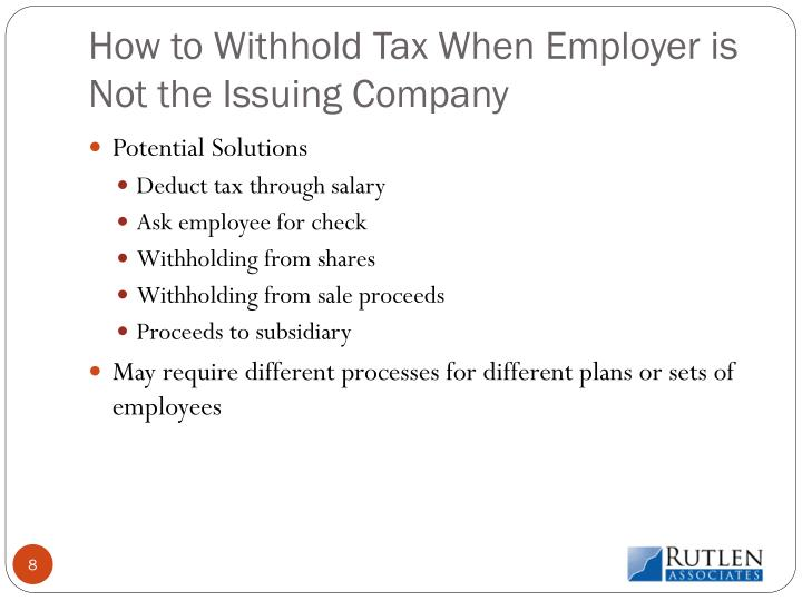 How to Withhold Tax When