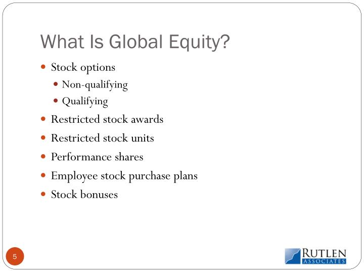 What Is Global Equity?