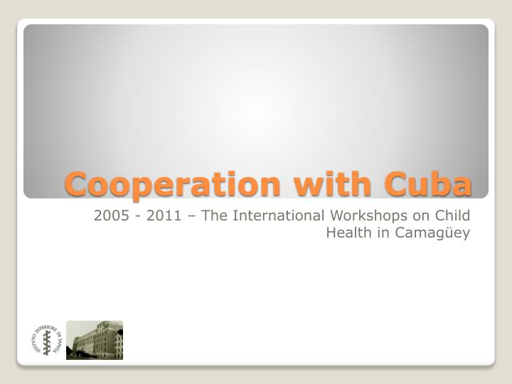 cooperation with cuba n.