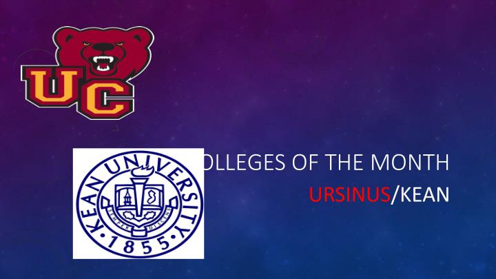 colleges of the month n.