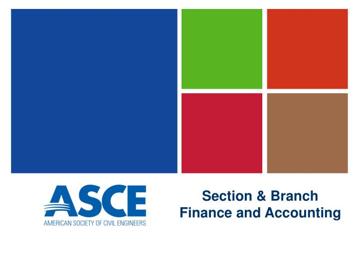 section branch finance and accounting n.
