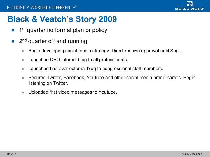 Black veatch s story 2009