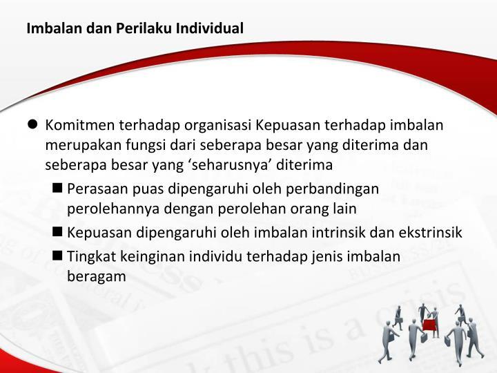 Imbalan dan Perilaku Individual
