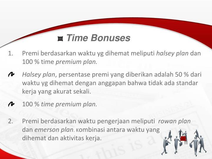 Time Bonuses
