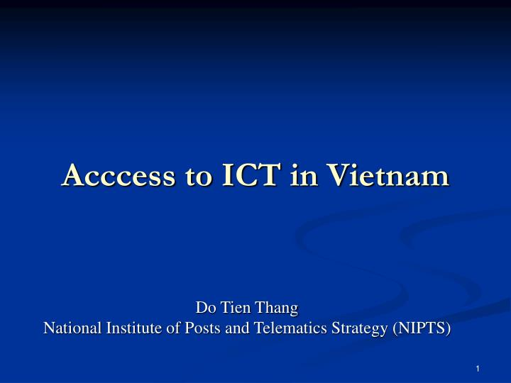 ict access presentation module Training course on measuring ict access and on measuring ict access and use in households and businesses businesses and on the ict sector module b-1.