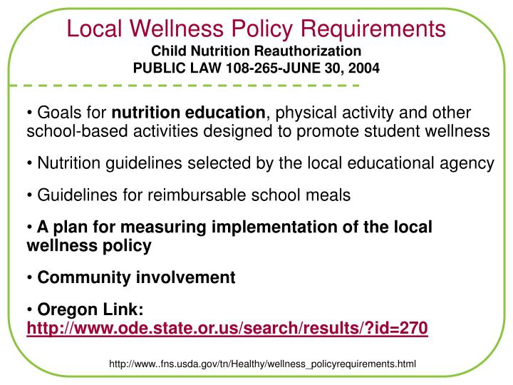 Local Wellness Policy Requirements