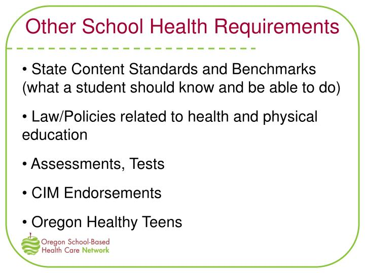 Other School Health Requirements
