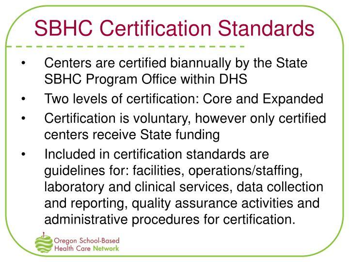 SBHC Certification Standards