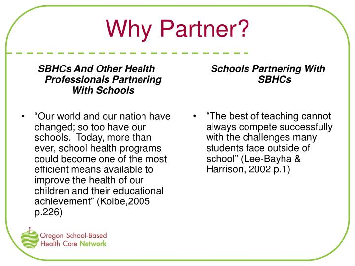Why Partner?