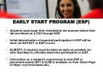 early start program esp