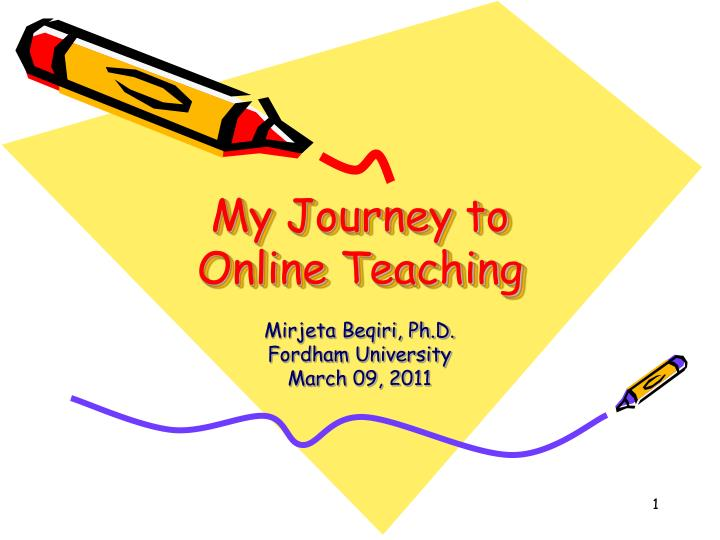 my journey to online teaching n.