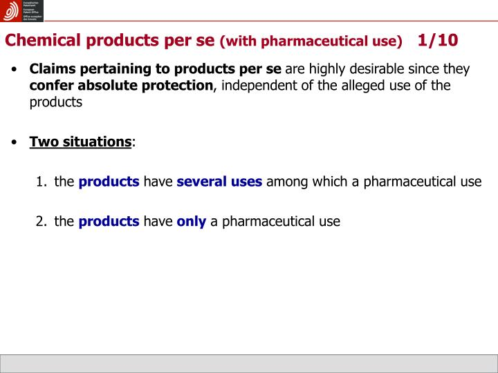 Chemical products per se