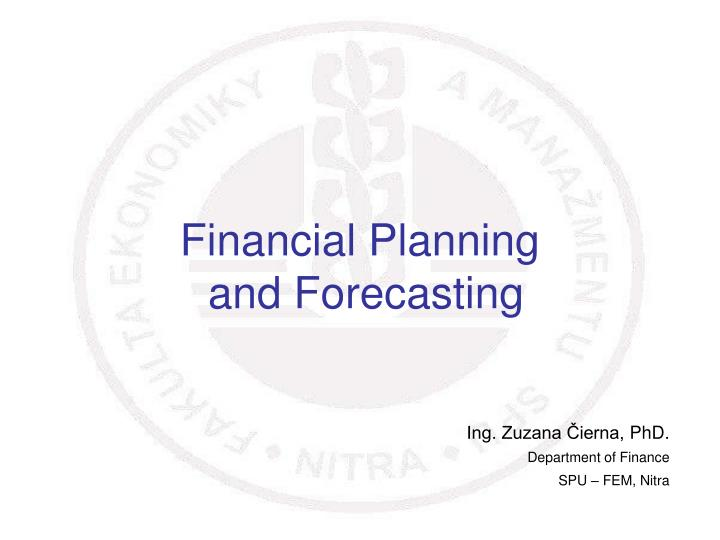 financial planning and forecasting n.