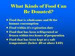what kinds of food can be donated