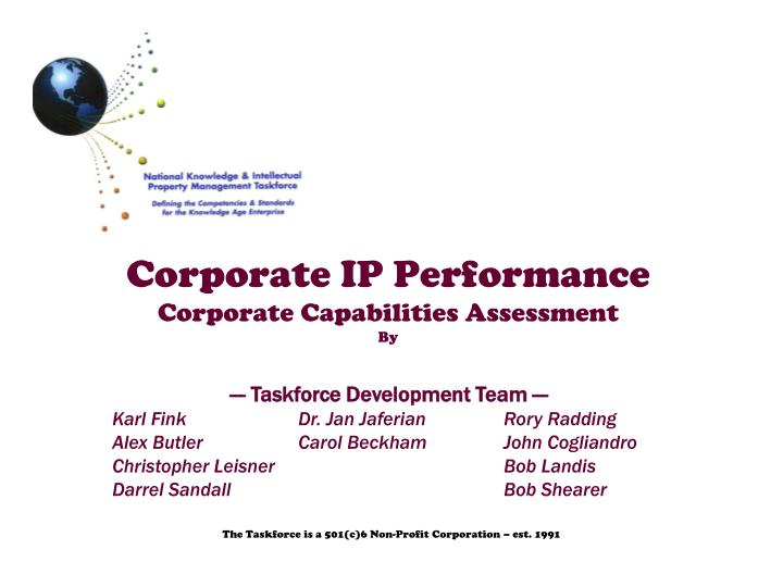 corporate ip performance corporate capabilities assessment by n.