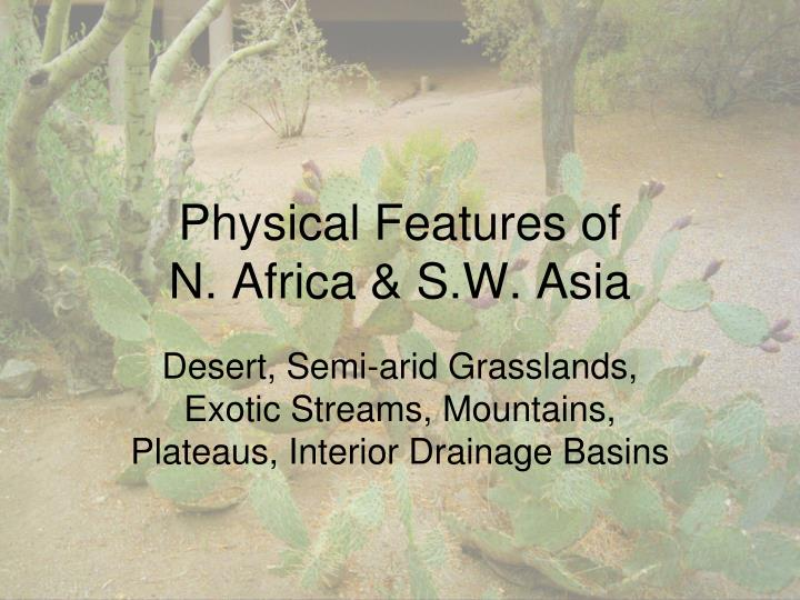 physical features of n africa s w asia n.