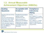 1 3 annual measurable achievement objectives amaos