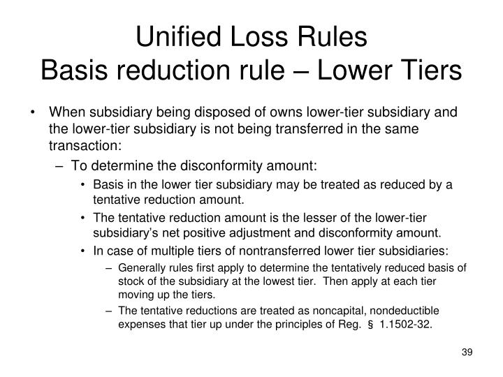 Unified Loss Rules