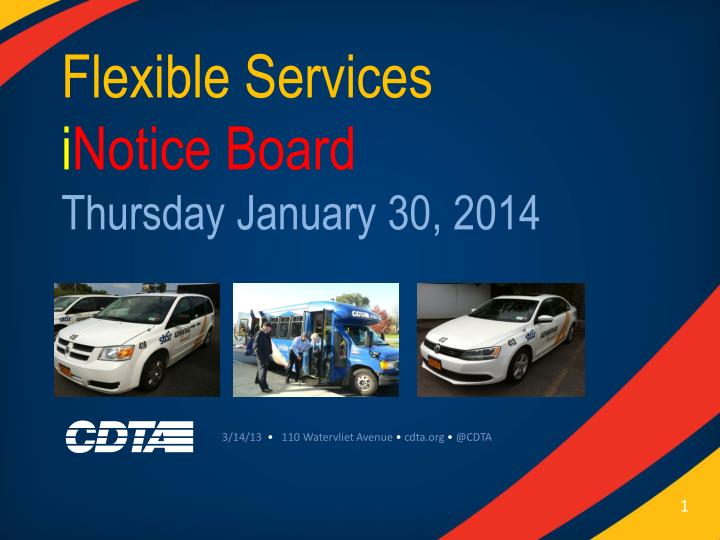 flexible services i notice board thursday january 30 2014 n.