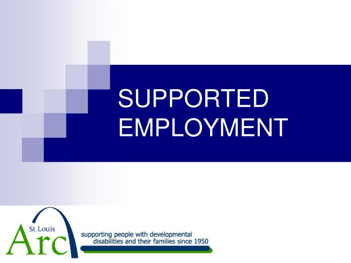 supported employment n.