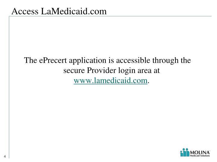 Access LaMedicaid.com