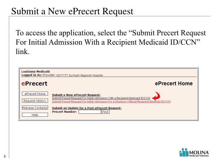 Submit a New ePrecert Request