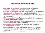 allocation priority rules