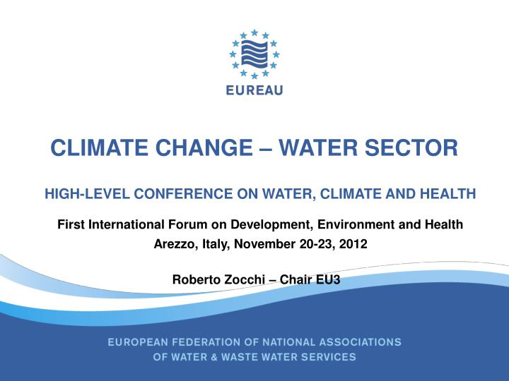 climate change water sector n.