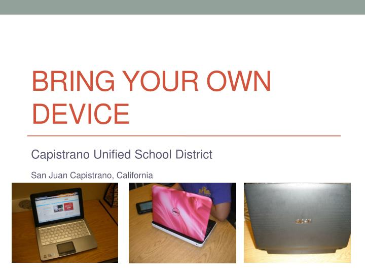 bring your own device n.