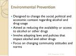 environmental prevention