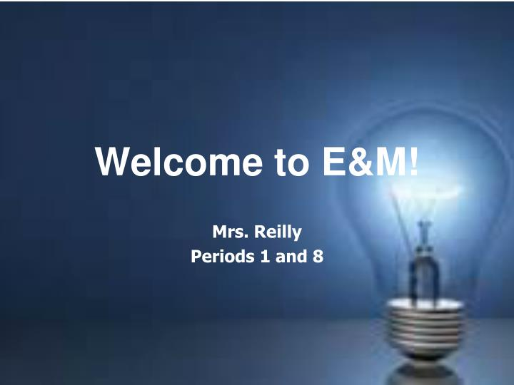 welcome to e m n.