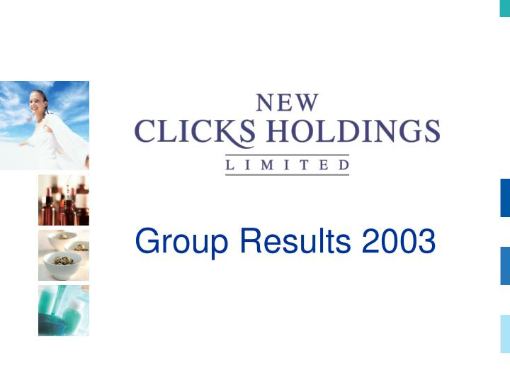 group results 2003 n.
