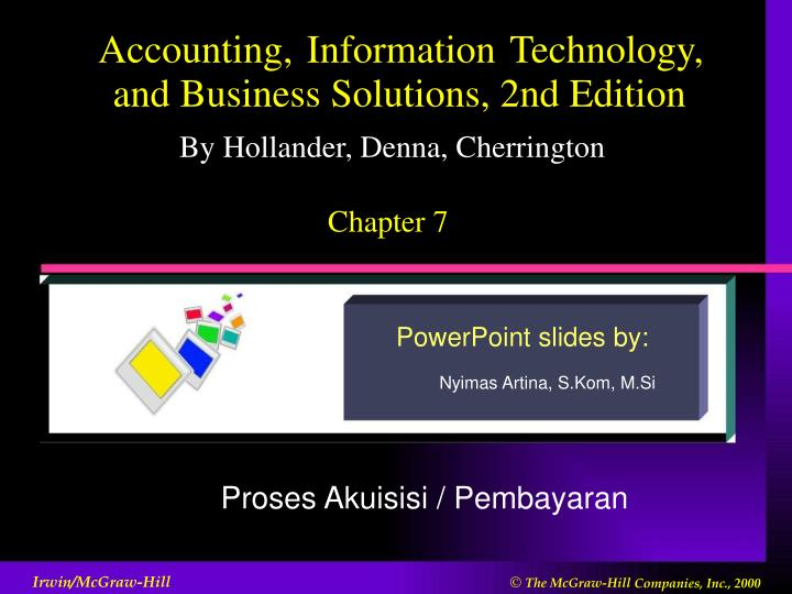 PPT Accounting Information Technology And Business