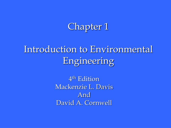 chapter 1 introduction to environmental engineering n.