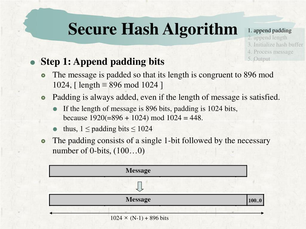 PPT - Hash and Mac Algorithms PowerPoint Presentation - ID