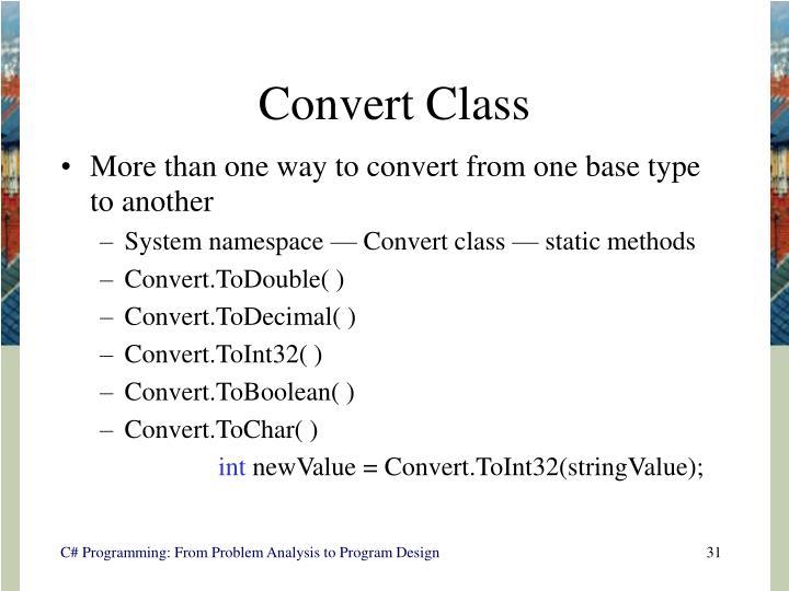 Convert Class