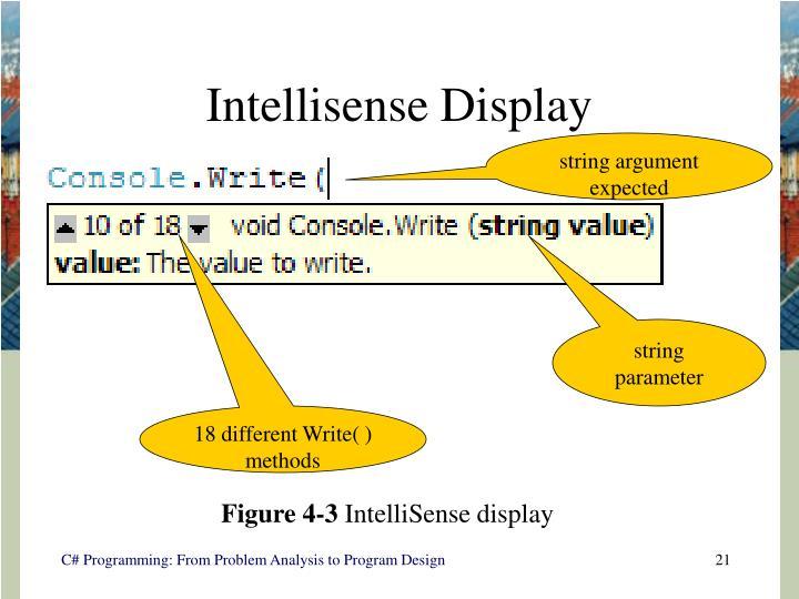 Intellisense Display