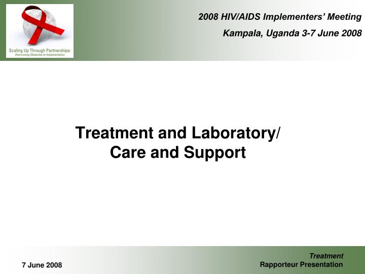 treatment and laboratory care and support n.