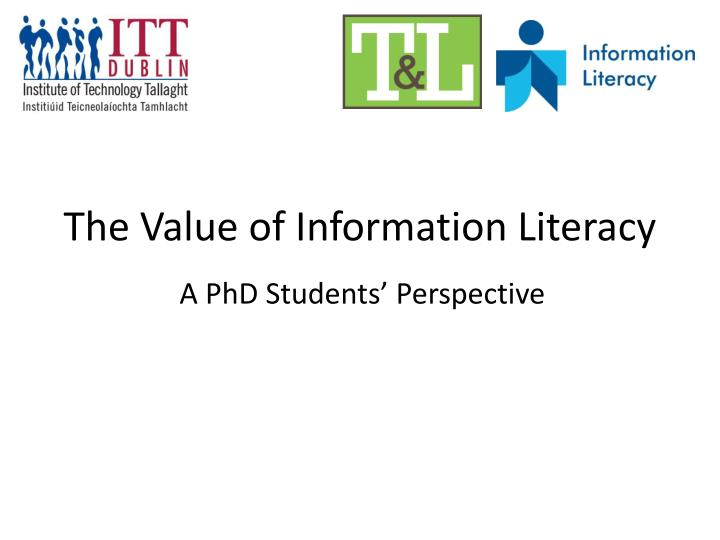 the value of information literacy n.