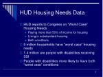hud housing needs data
