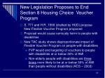 new legislation proposes to end section 8 housing choice voucher program