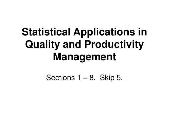 experiment 1 application of statistical concepts Robustness is a concept that enters into statistics at the scientific application of the statistical introduction to design of experiments 11.